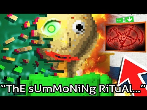 The Baldi SUMMONING RITUAL! ENDING HIM! - Baldi's Basics in Education and Learning (ALL 7 Notebooks)