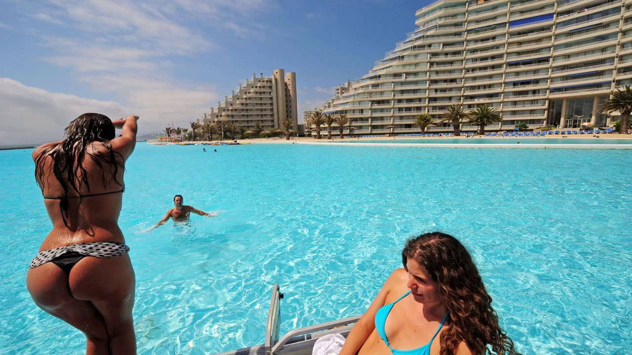 San alfonso del mar world 39 s largest swimming pool chile youtube for Largest swimming pool in the us