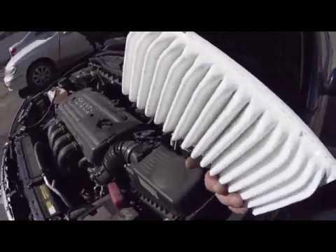 Как поменять воздушный фильтр на Toyota Premio 240