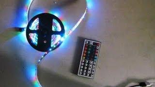 5m 3528 rgb smd flexible led light strip 300 led 44 key ir remote