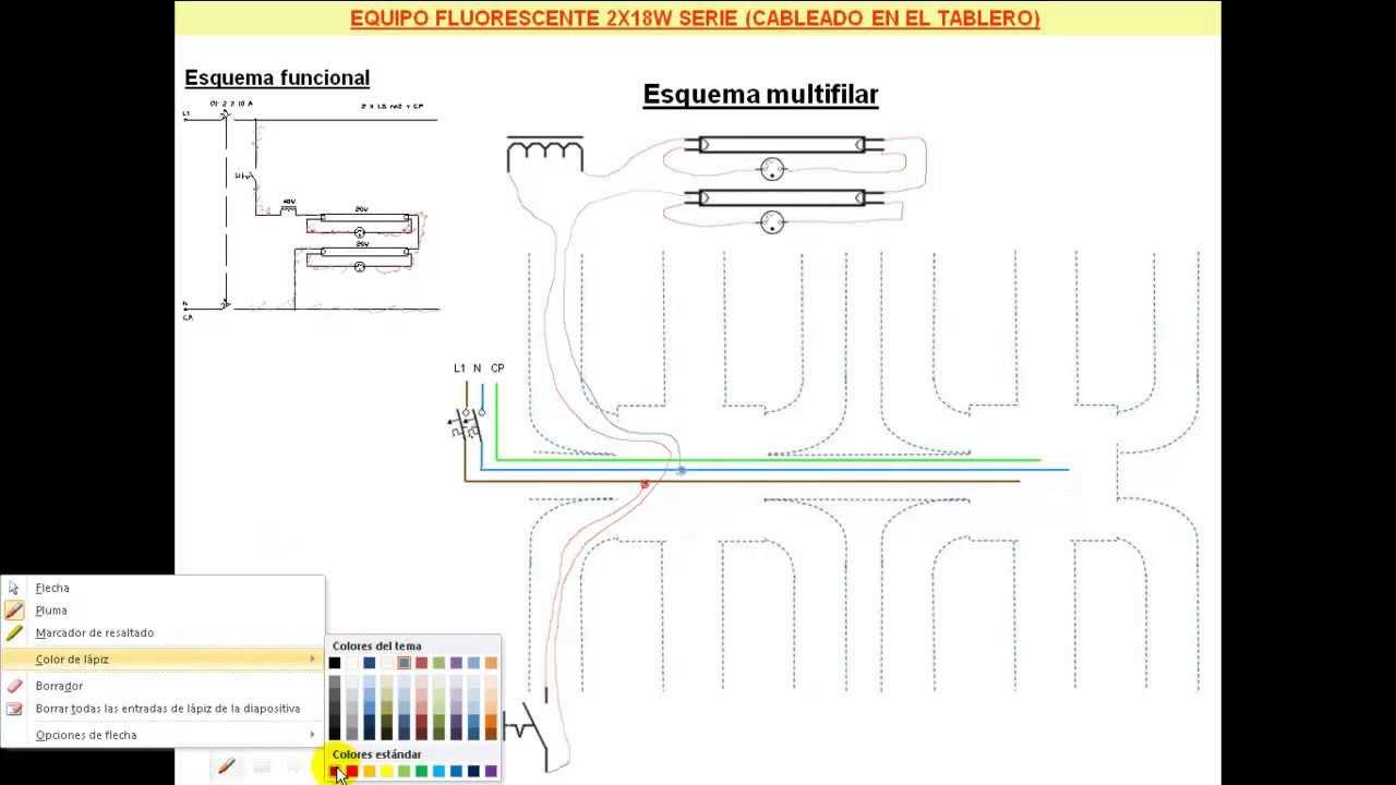 C mo conectar en serie dos tubos fluorescentes de 18 - Como instalar lamparas led ...