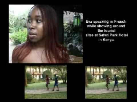 Gathoni Warutere's daughter markets Kenyan Tourism to the French.flv
