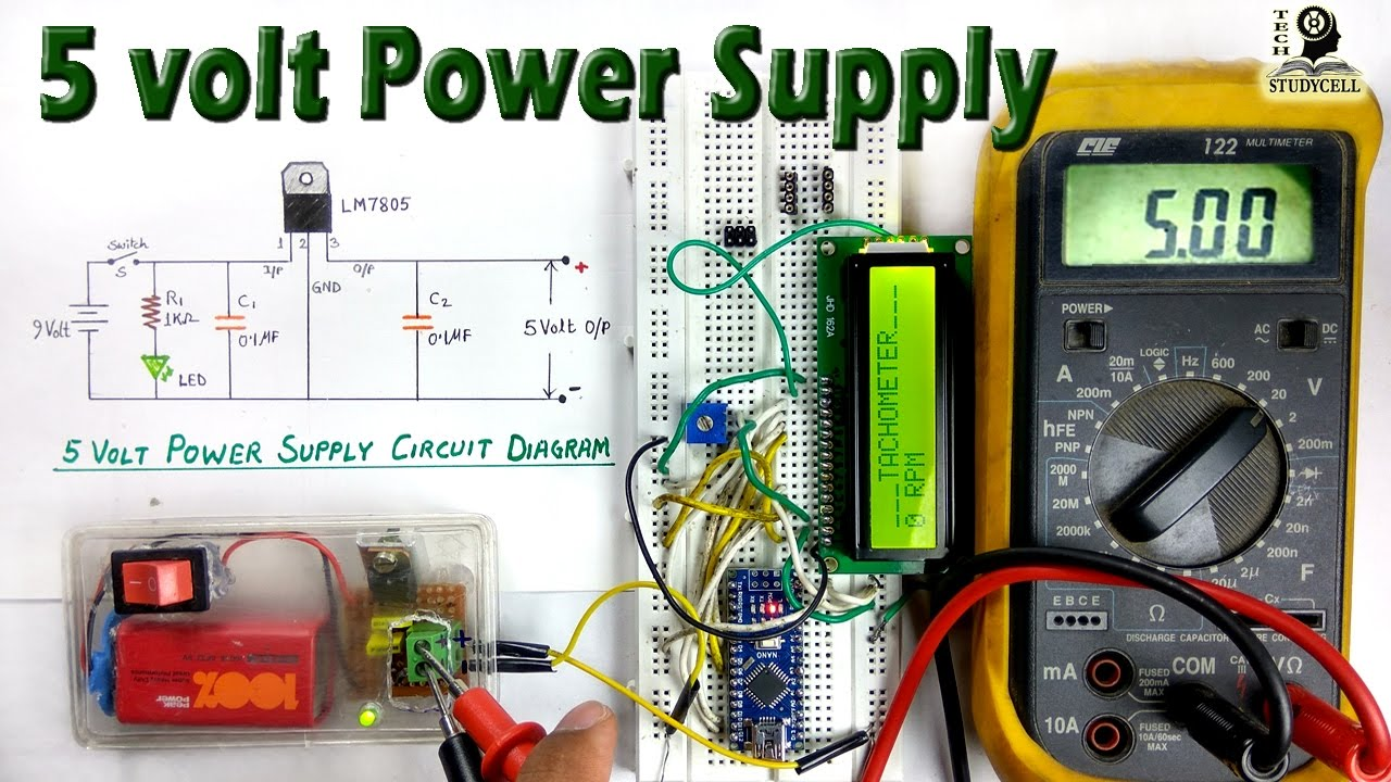 How To Use Lm7805 Regulator In 5 Volt Dc Power Supply From