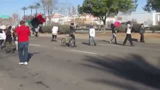 Rev. Harris Leads March In River Park Ferguson Verse Fresno Police Brutality In River Park Pt. 1