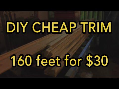 DIY Cheap Trim   160 feet for $30