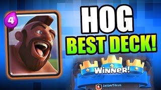 Clash Royale | BEST HOG RIDER DECKS! | Arena's 4 , 5 , 6 & 7 Insane Hog Rider Strategy!