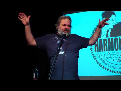 Dan Harmon records a video introduction for Rob Schrab