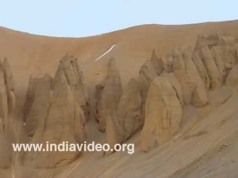 Rock formations in Ladakh