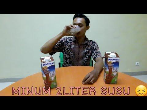 MUKBANG 2 LITER SUSU INDOMILK COKLAT!!! AUTO KEMBUNG   Mangan Akeh #2