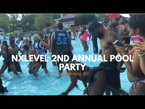 I WENT TO A LIT POOL PARTY mini vlog  college vlog 5