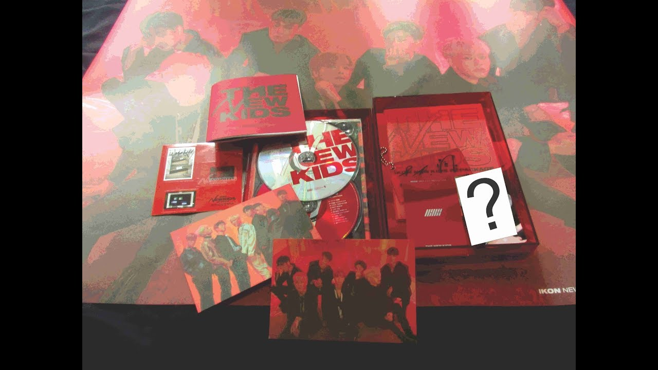 Unboxing Album iKON New Kids: Repackage Red Version
