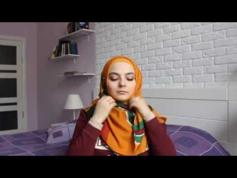 Люби свой хиджаб! Как повязать платок. Способ 2