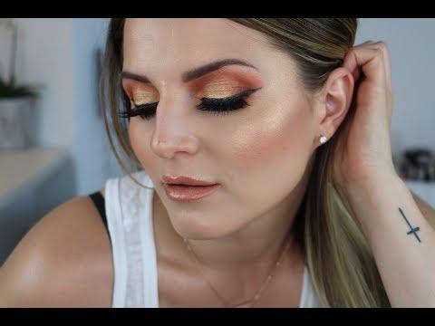 Orange Sunset Summer Makeup Tutorial 🌅