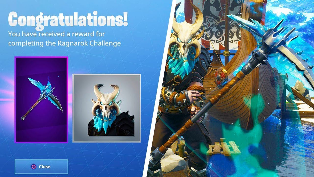 New Permafrost Level  Pickaxe Stage  Ragnarok Skin Upgrade Fortnite Ragnarok Pickaxe