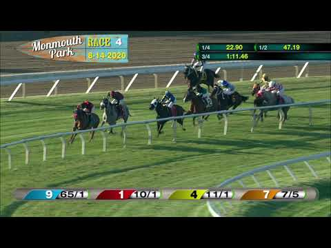video thumbnail for MONMOUTH PARK 08-14-20 RACE 4