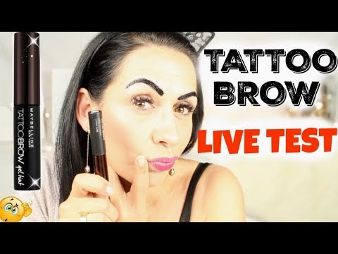 Eye Brow Tattoo? Maybelline: Peel off Tattoo Brow LIVE TEST I Review