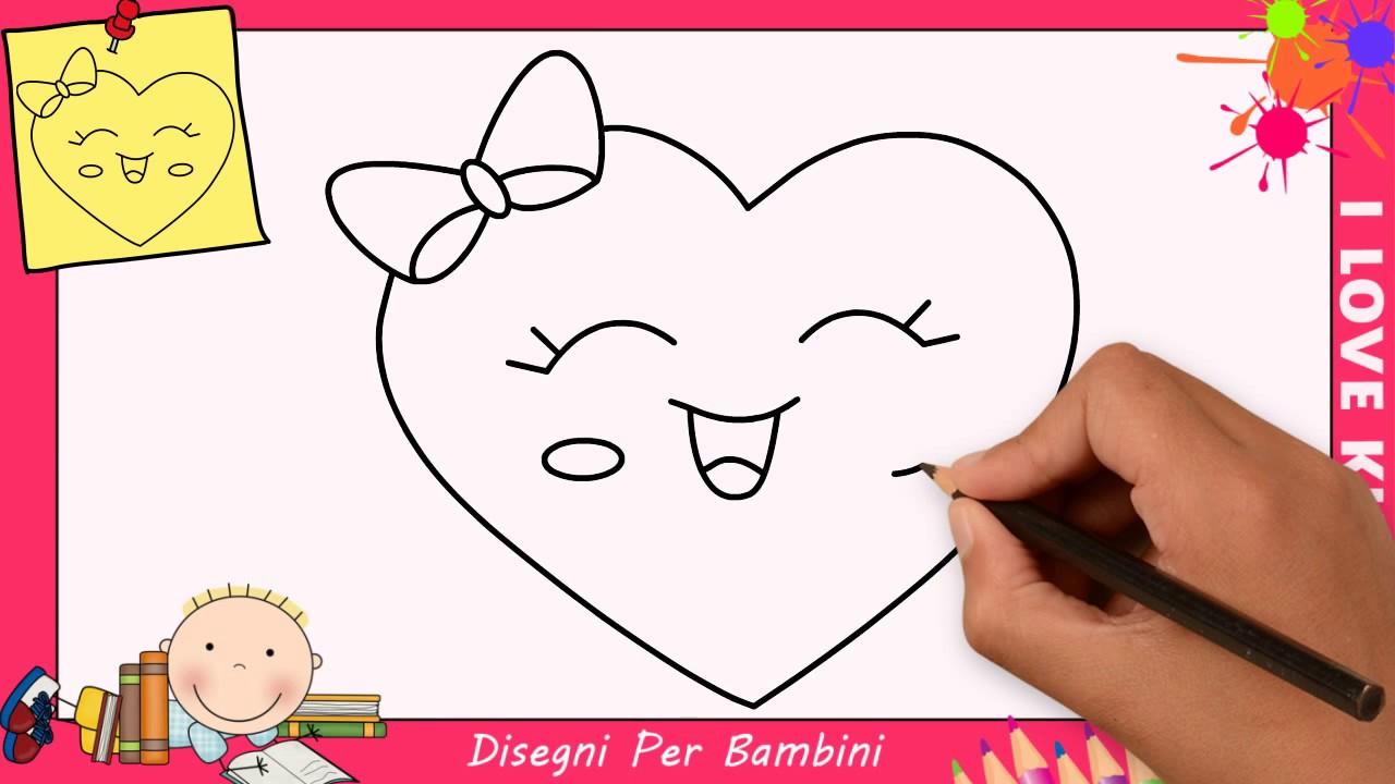 Come disegnare un cuore facile kawaii passo per passo for Pesci da disegnare per bambini