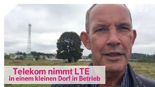 Telekom Netzausbau:  Inbetriebnahme des LTE Mobilfunkmastes in Grüneberg