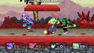 SSF2 Freedom Planet Smash-Up: Lilac and Carol vs Amethia (Lilac Black) and Zamasu