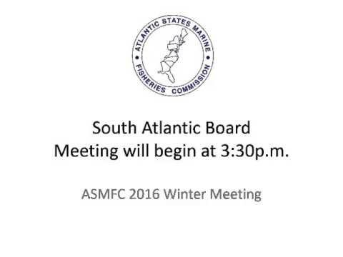 ASMFC South Atlantic Board Audio Feb2016