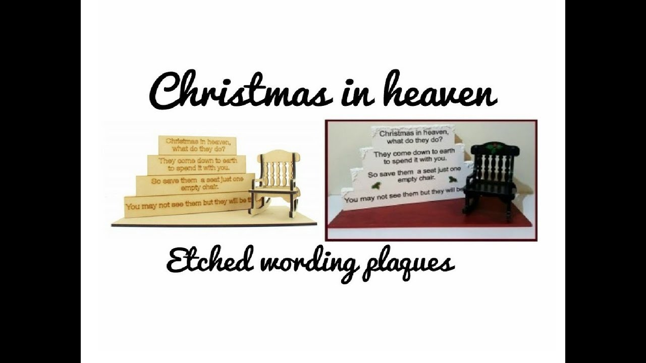 tutorial for our christmas in heaven blocks with etched wording plaques