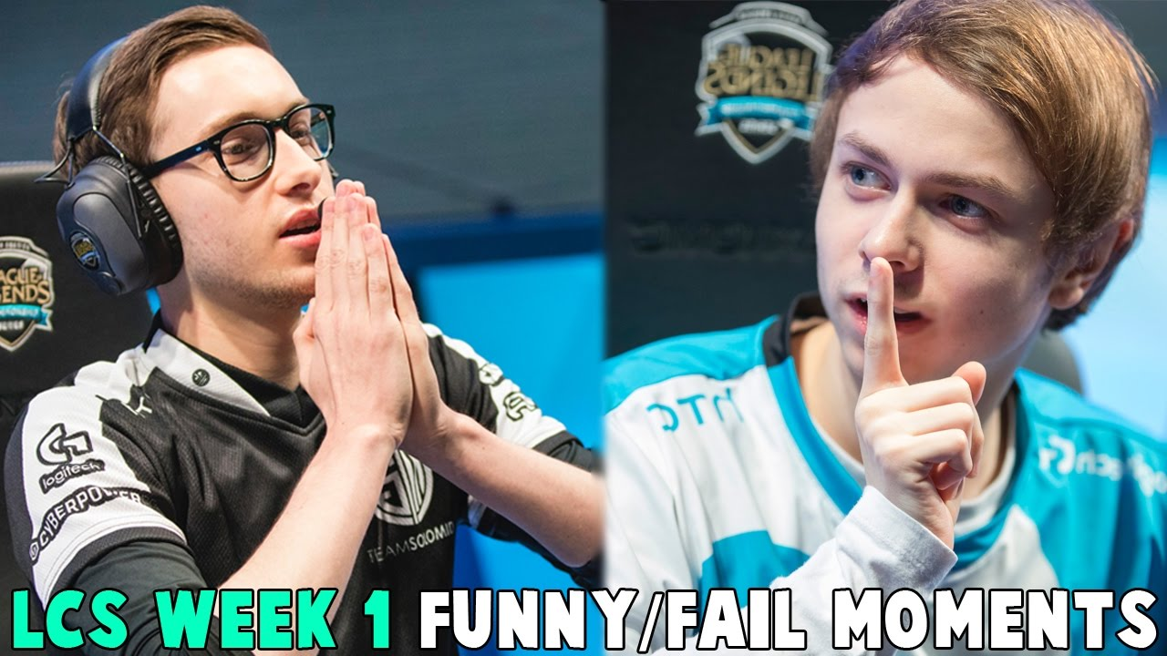 LCS WEEK 1 FUNNY/FAIL MOMENTS   2017 Spring Cut up
