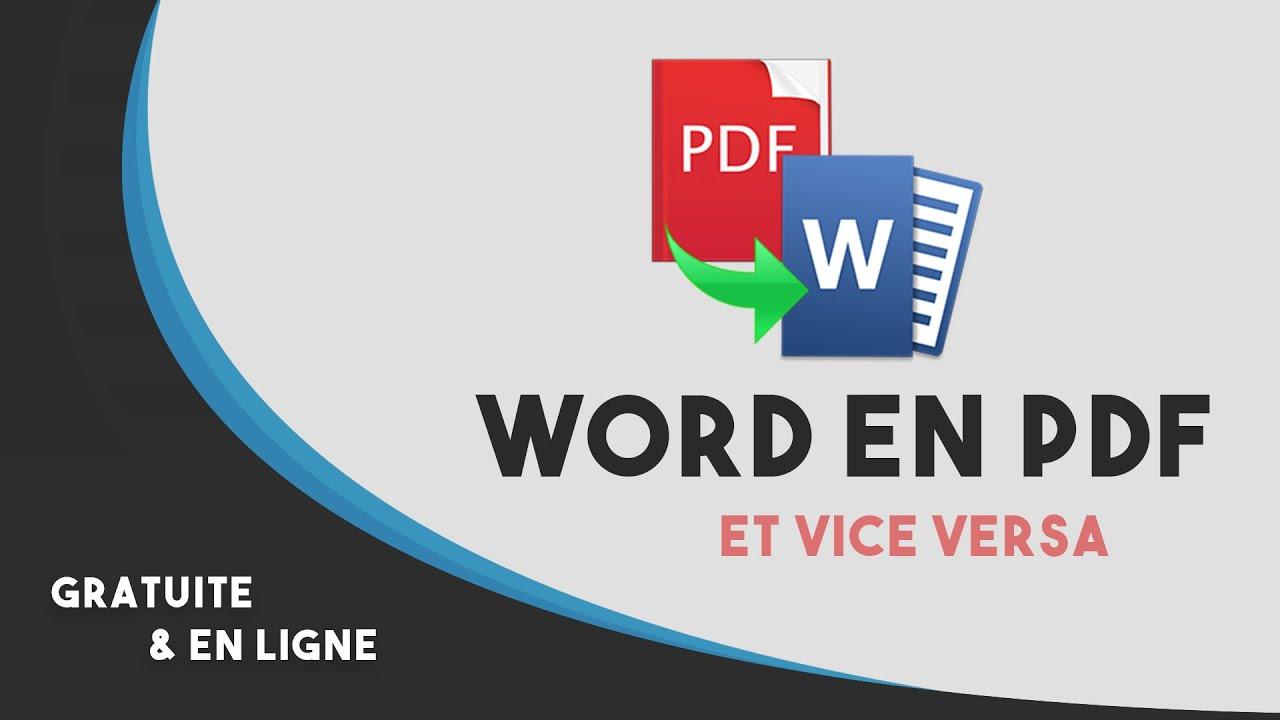convertir pdf en word en ligne gratuitement 100