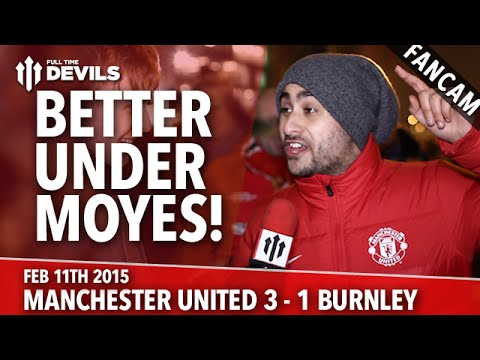 Better Under Moyes! - Manchester United 3 Burnley 1 - FANCAM - 동영상