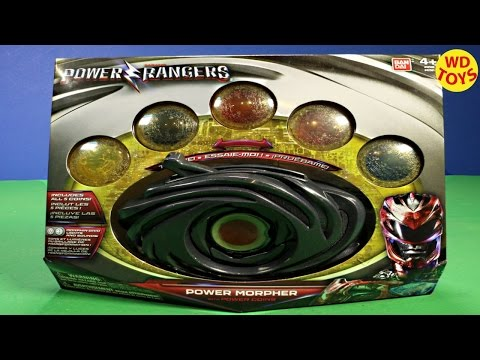 New Power Rangers Movie 2017 Power Morpher and Coins W Lights And Sounds Unboxing