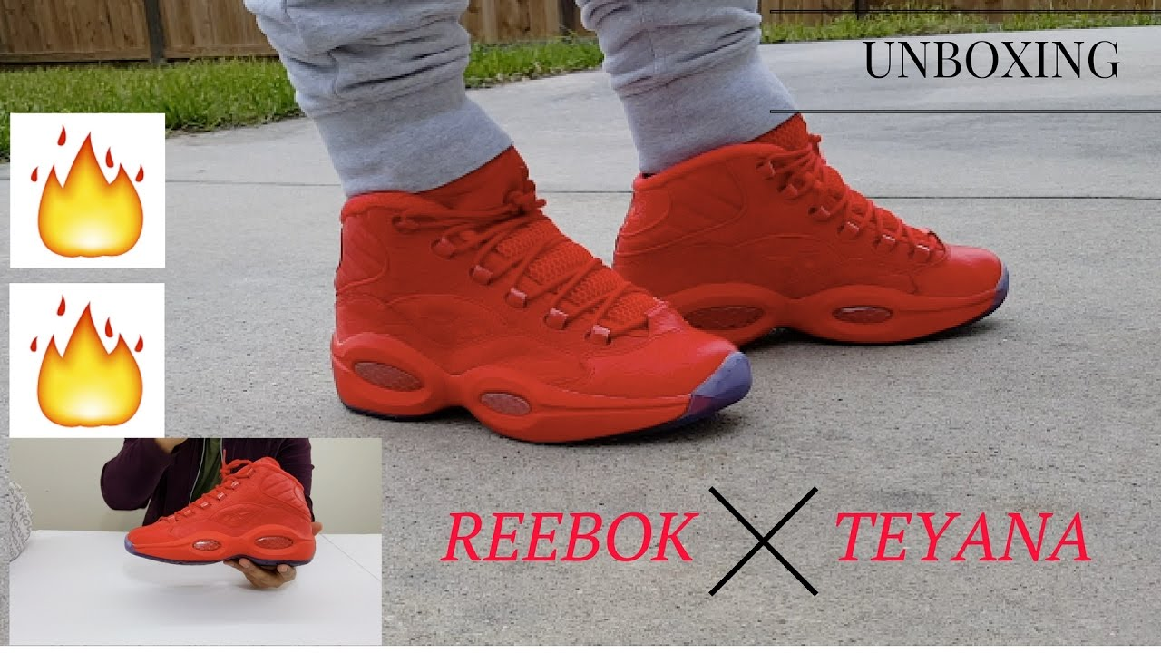4463b59b8de814 Question Iverson i3 - Reebok question mid - Teyana Taylor On Feet   Review