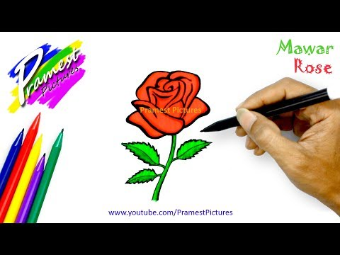 How To Draw a Rose | Flower Coloring Pages For Kids