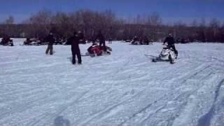 2011 Ski-Doo 800 E-Tec Freeride vs. 2011 Polaris Pro RMK 800 | Birch Hills Rally Feb. 12/11