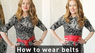 How to wear belts for your body shape - fashion for women over 40