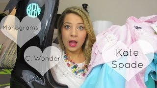 Haul! Monograms, Kate Spade, C, Wonder & More Thumbnail