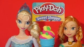 play doh sweet shoppe perfect twist ice cream maker with disney frozen queen elsa cookie monster a