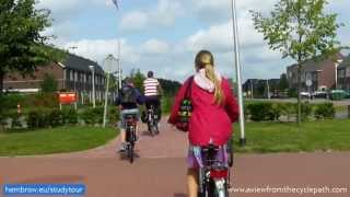 The school run in Assen, Netherlands - a country where children are important. True mass cycling