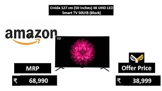 Onida 127 cm (50 Inches) 4K UHD LED Smart TV 50UIB (Black)