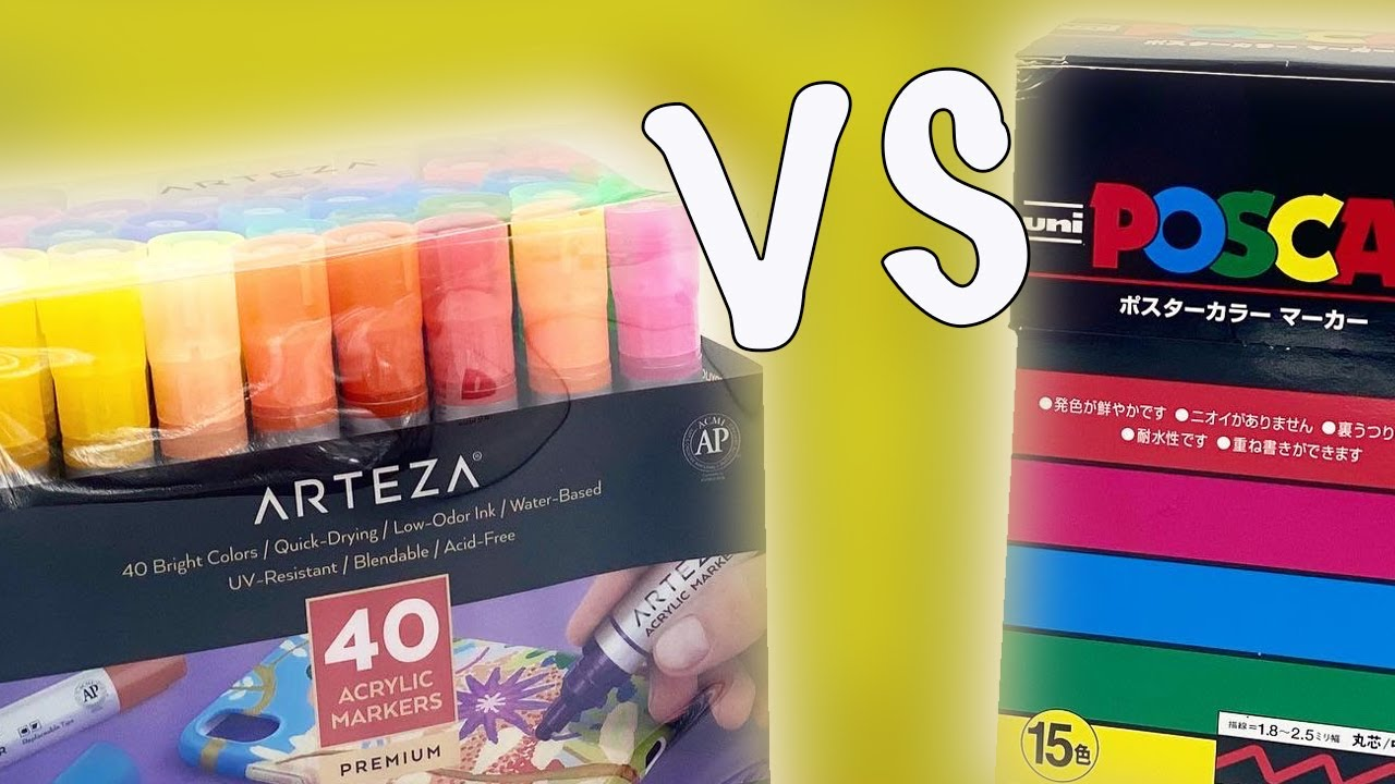 Arteza Markers Vs Posca Pens Are Posca Pens Still The Best Paint Marker On The Market Youtube