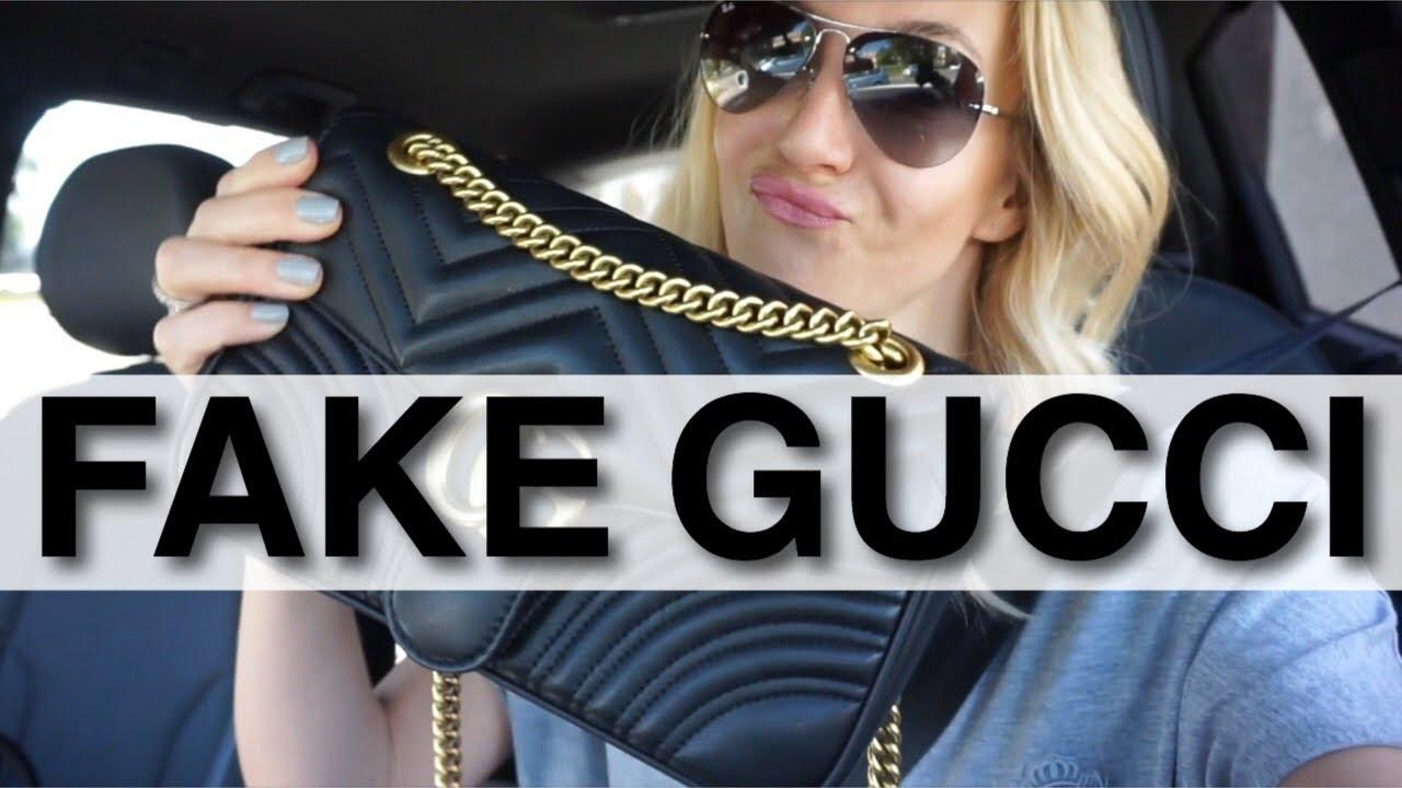 6164433459f4 FAKE GUCCI HANDBAG || FAKE GUCCI ON EBAY || GUCCI MARMONT || ANNA IN WARSAW