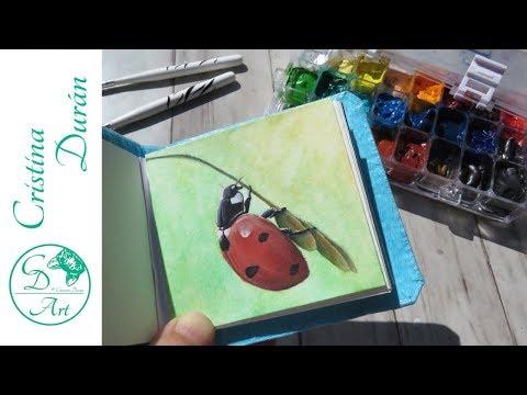 DIY Mini Sketchbook + Gouache SKETCHBOOK TOUR