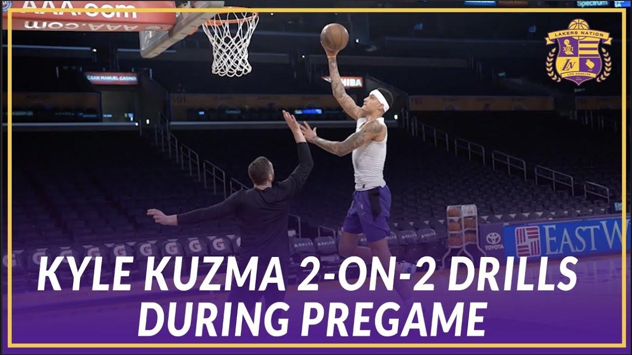 Practice Report: Kyle Kuzma (2/7/18) - YouTube