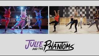 "Julie & The Phantoms BTS | ""Wow"" Shot Compare"