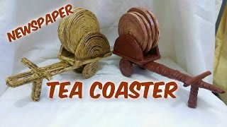 How to make newspaper Tea Coaster  Bullock  cart(1)
