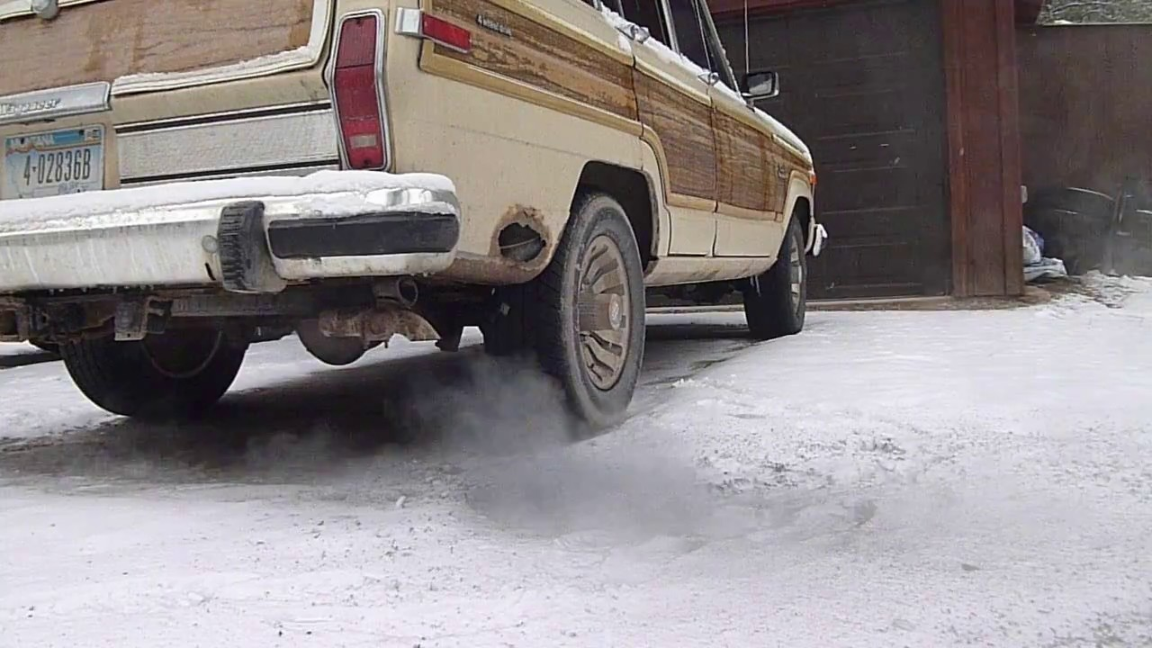 Grand Wagoneer 2017 >> Exhaust shot cold starting a 1984 Jeep Grand Wagoneer - YouTube