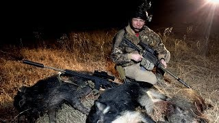 Thermal Hog Hunt with Lone Star Boars - 20 feral hogs down!