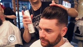 Skinfade Pompadour For a Corporate Look | Cut and Grind thumbnail