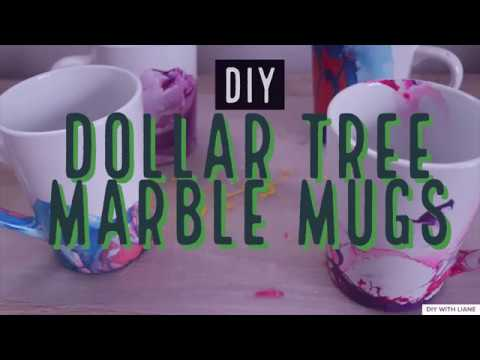 DIY Dollar Tree Marble Mugs | Cheap & Easy