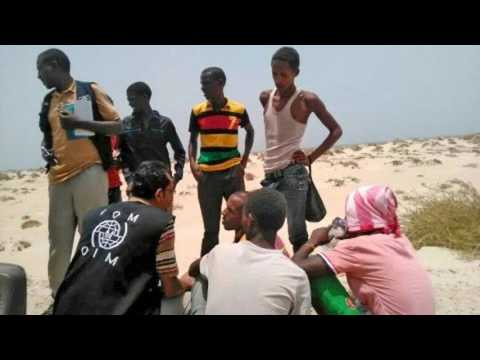 News Update Teenage migrants 'deliberately drowned' by smuggler in Yemen 09/08/17