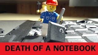 Laptop Destruction by Legos - DEATH OF A NOTEBOOK