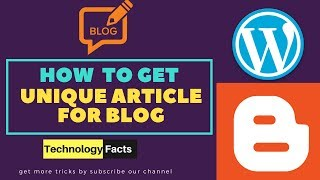 How To Get Free Unique Articles For Blog | Get Free Content For website
